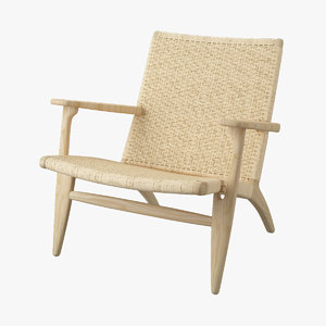 3d chair hans j wegner model