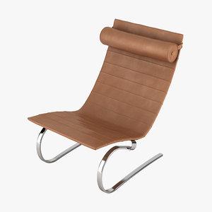 3d poul kjaeholm pk20 chair model
