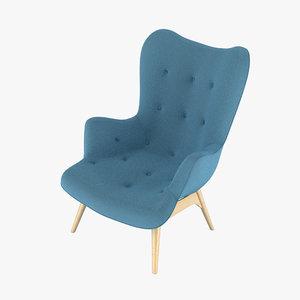 grant featherston contour chair 3d model