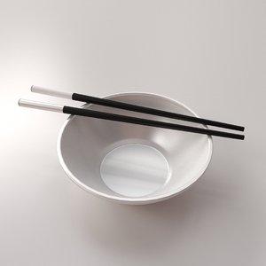 3ds chopsticks bowl