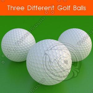 golf balls 3ds