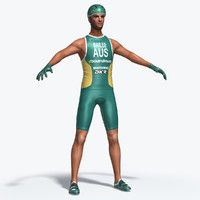 3d athletic cyclist model