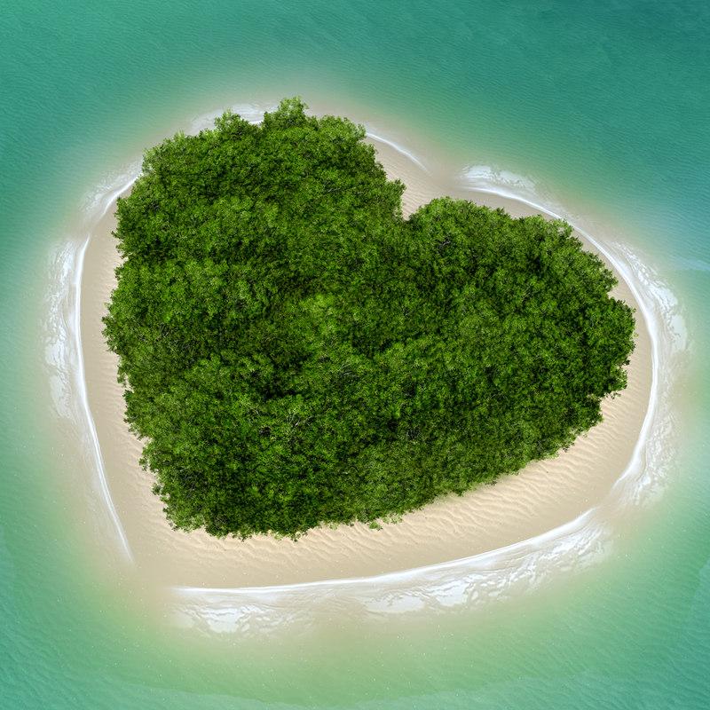 cinema4d ed heart island