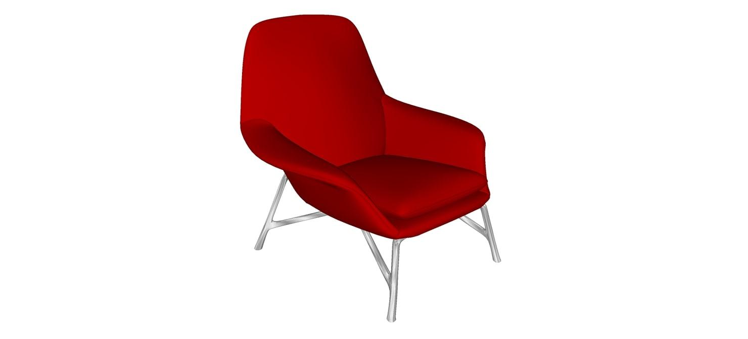 3d prince armchair minotti