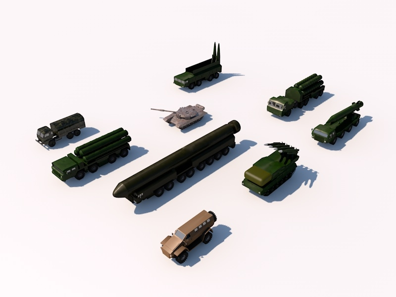 russia military pack 1 3d model