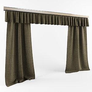 simple curtain 3d model