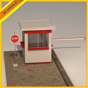 3d 3ds security booth
