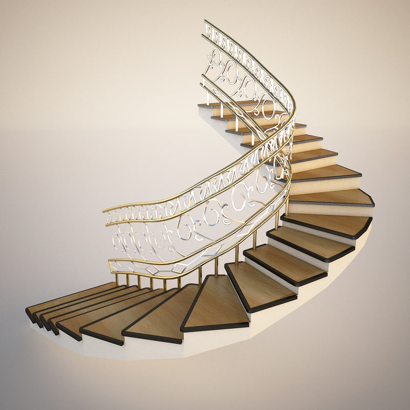 3d stairs furniture architecture