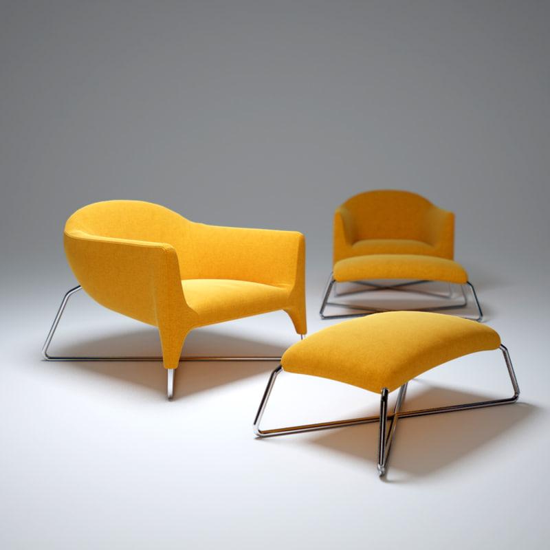3d model bali-armchair