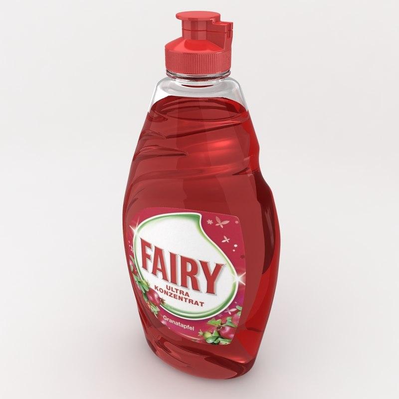 3d model realistic fairy granatapfel