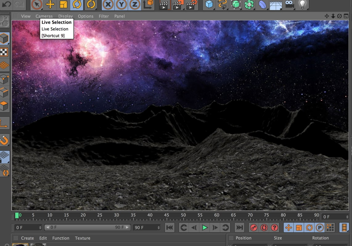 dark planet surface 3d 3ds