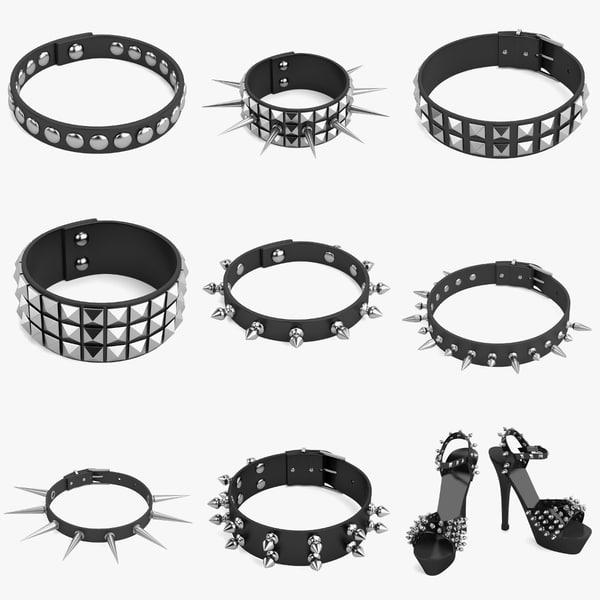 3d model of punk set