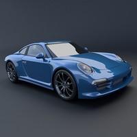 porsche carrera 911 4s 3d model