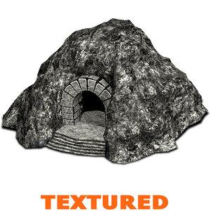 3dsmax cave fantasy wall