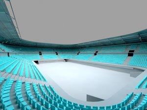 3d stadium white