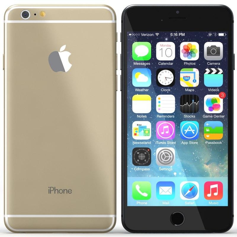 iphone 6 colours 3d model