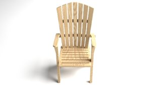 3d model wooden adirondack chair