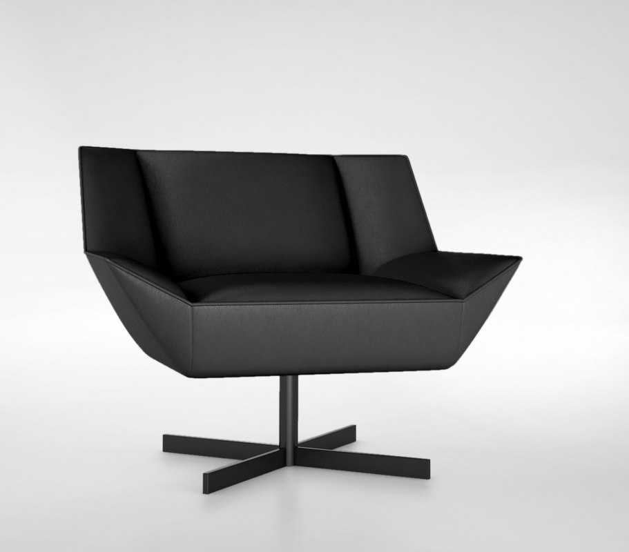 3d model of molteni tight armchair