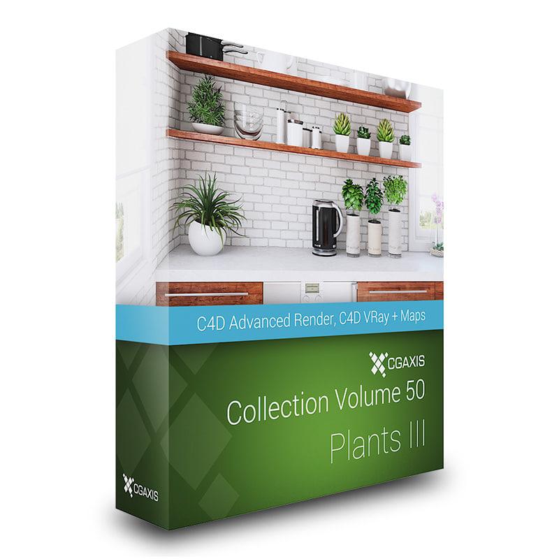 3d model volume 50 plants