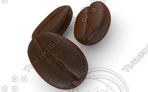 3d model coffee beans