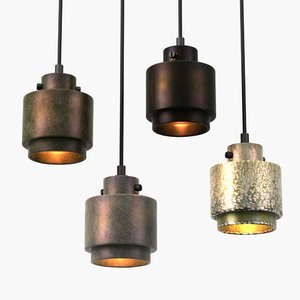 3d model of pendant lights lustre tom dixon