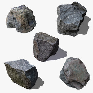 pack stones 3d obj