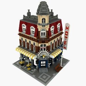 3d 3ds cafe corner lego