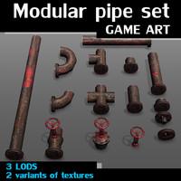 maya modular pipe set