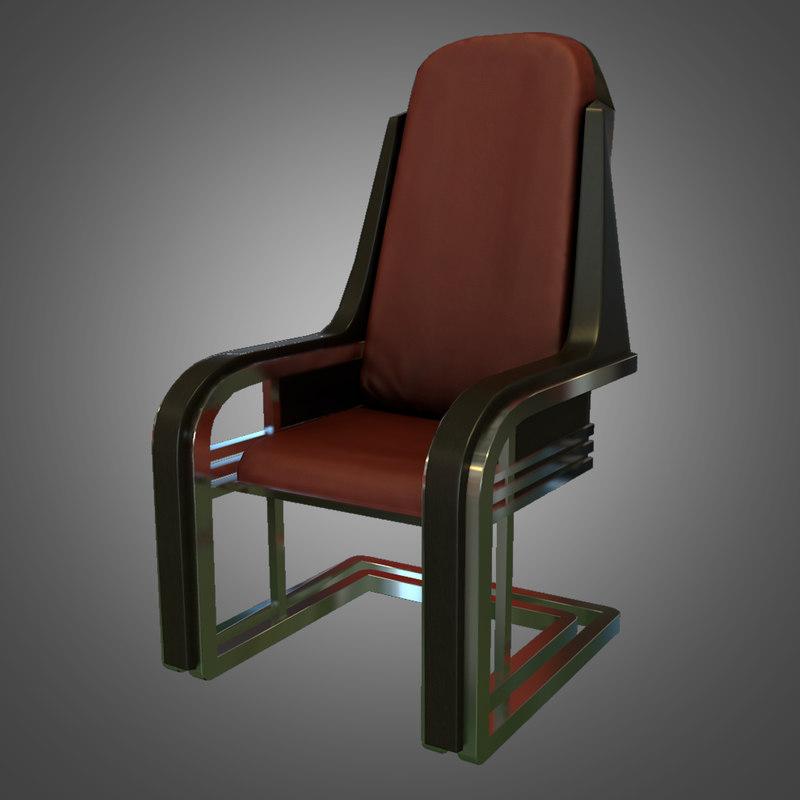 3d model ready deco desk chair