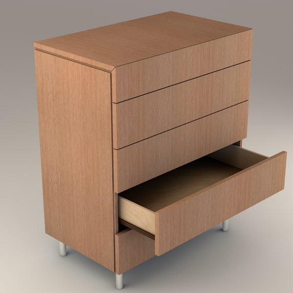 modern drawers 3d model