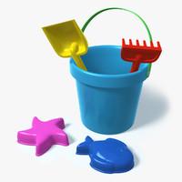 plastic toys beach sand 3d max