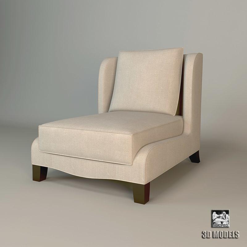 free 3ds model baker dane slipper chair