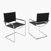 metal frame chair 3ds free