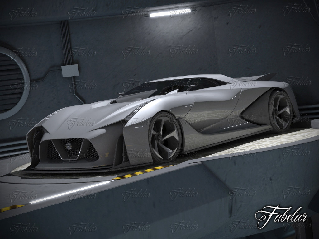 Nissan 2020 concept garage 3d 3ds for Garage nissan terville 57