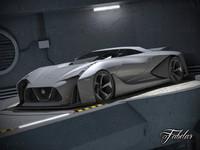 nissan 2020 concept garage 3d 3ds