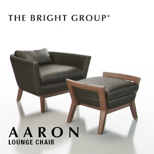 3d model of bright group aaron lounge chair