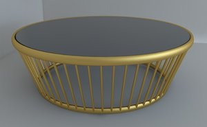 3d model classical coffee table