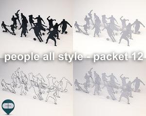 fbx silhouette people