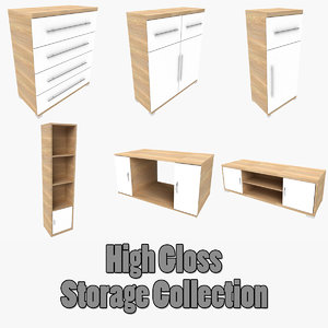 3d cupboard shelf coffee table model