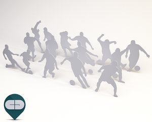 silhouette people 3d 3ds