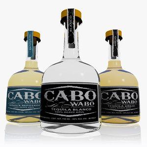 3d model set cabo wabo tequila