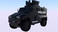 free police mrap 3d model