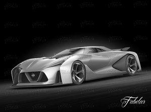 nissan 2020 concept vehicle obj