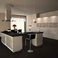 3ds max kitchen furniture white