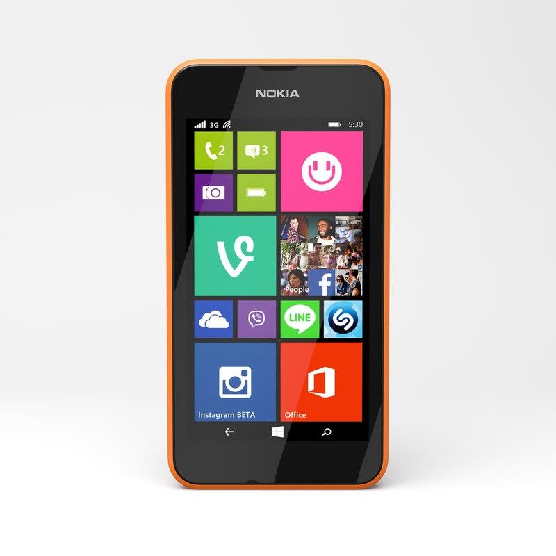 3d model nokia lumia 530