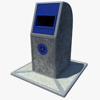 recycling bin paper 3d model