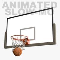 fbx slow motion animation basketball