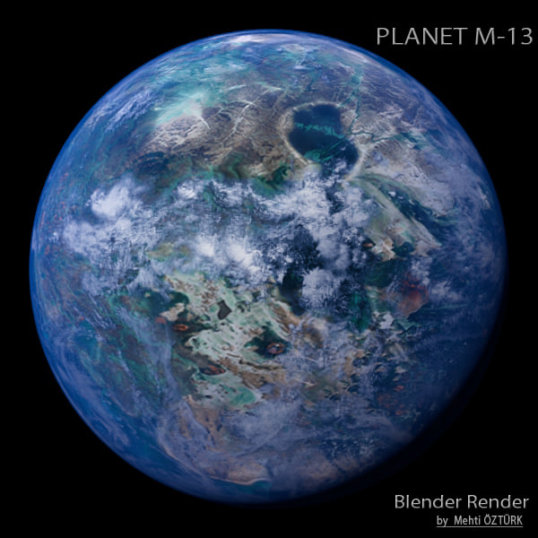 3d model planet m-13 m