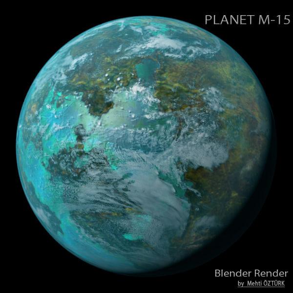 planet m-15 m 3d model