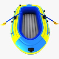 cartoon inflatable boat 3d model